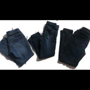 👖3 pairs of little girl designer jeans